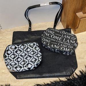 Lancome make up and tote bag set